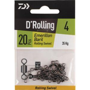 Emerillón Daiwa D'Rolling barril clásico