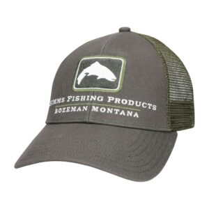 GORRA SIMMS Small fit trout icon trucker shadow green